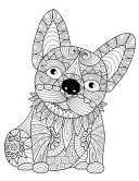 Zentangle French Bulldog Daily Planner Journal