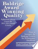 Baldrige Award Winning Quality    18th Edition