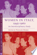 Women in Italy  1945   1960  An Interdisciplinary Study