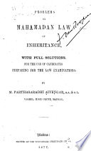 Problems on Mahamadan Law of Inheritance Book PDF