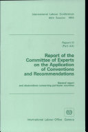 Report Of The Committee Of Experts On The Application Of Conventions And Recommendations Report 80 Iii 4a