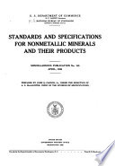 Standards and Specifications for Nonmetallic Minerals and Their Products