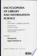 Encyclopedia of Library and Information Science  Volume 7   Derunov  Konstantin Nikolaevitch