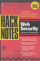 Hacknotes Web Security Portable Reference