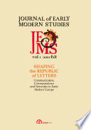 Journal of Early Modern Studies   Volume 1  Issue 1  Fall 2012
