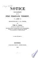 Notice biographique sur le p  re Ferdinand Verbiest  missionnaire    la Chine