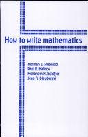 How to Write Mathematics
