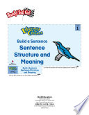 Sentence Structure and Meaning  Build a Sentence Literacy Center