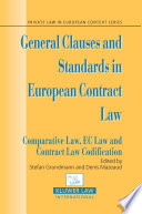 illustration General Clauses and Standards in European Contract Law
