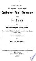 Führer für Fremde durch die Ruinen des Heidelberger Schlosses
