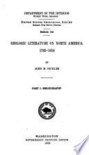 Geologic Literature On North America 1785 1918