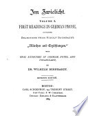 First Readings In German Prose Containing Selections From Rudolf Baumbach S M Rchen Und Erz Hlungen