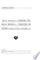 Ricordi monumentali a Pasquale Stanislao Mancini ed a Francesco De Sanctis in Ariano di Puglia  8 novembre 1903