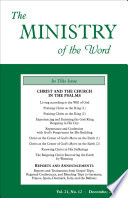 The Ministry Of The Word Vol 21 No 12 Christ And The Church In The Psalms 2