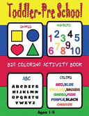 Toddler Preschool BIG Coloring Activity Book Age 2 7Numbers Colors Letters Shape