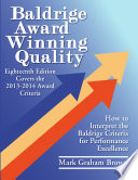 Baldrige Award Winning Quality    18th Edition