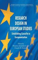 Research Design in European Studies