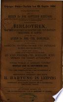 Auktionskatalog, Bücher von Joh. Chr. Hohlfeld ... [et al.], 25. September bis 6. Oktober 1854