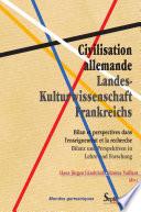 Civilisation allemande / Landes- Kulturwissenschaft Frankreichs