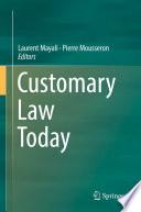 illustration du livre Customary Law Today