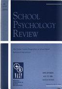 School Psychology Review