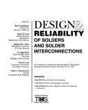 Design   Reliability of Solders and Solder Interconnections