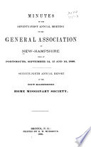 Minutes of the ... Annual Meeting of the General Association of New-Hampshire