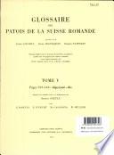 Glossaire des Patos de la Suisse Romande