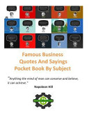Famous Business Quotes and Sayings Pocket Book by Subject