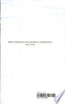 Bibliografía filosófica hispánica (1901-1970)