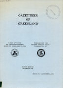 Gazetteer of Greenland