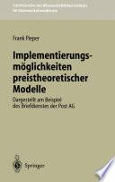 Implementierungsmöglichkeiten preistheoretischer Modelle