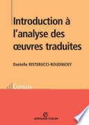 Introduction    l analyse des oeuvres traduites