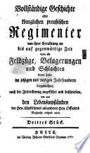 Geschichte und Nachrichten von dem königl. preuß. Fuselierregimente von Kleist ...