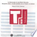 """La dramaturgia de José Martín Recuerda. Recepción crítica y estudio semiótico de """"La trotski"""" y """"La llanura"""""""