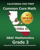 California Test Prep Common Core Math Sbac Mathematics Grade 3