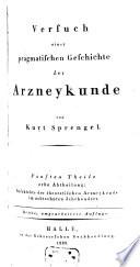 Versuch einer pragmatischen Geschichte der Arzneykunde