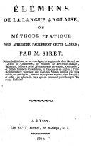 download ebook Élémens de la langue anglaise pdf epub