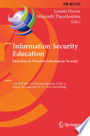 Information Security Education Education In Proactive Information Security