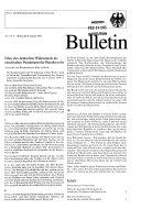 Bulletin des Presse  und Informationsamtes der Bundesregierung