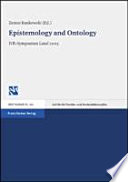 Epistemology and Ontology