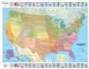 Mapa plastificado U S A  Pol  tico