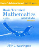 Student Solution s Manual for Basic Technical Mathematics with Calculus  SI Version
