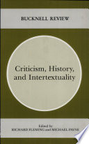 Criticism History And Intertextuality book