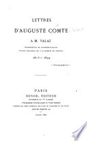 Lettres ... à M. Valat ... 1815-1844. [Edited by P. Valat.]