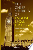 The Chief Sources of English Legal History