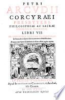 Petri Arcudii libri VII  de concordia ecclesia occident  et or ient  in septem sacramentorum administratione