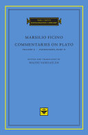Commentaries on Plato: (in 2 parts). Parmenides