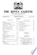 Kenya Gazette Government Of The Republic Of Kenya
