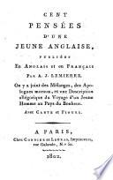 Cent pensées d'une jeune anglaise publiées en anglais et en français